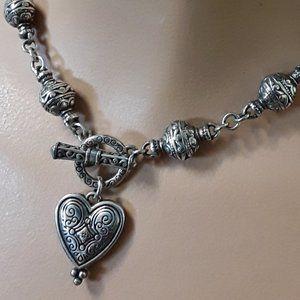 "BRIGHTON ""Tayla""  Ball & Chain Heart Necklace"
